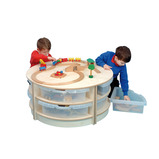 2 High Circle Table with Trays