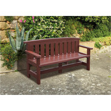 TRADITIONAL ADULT 3 SEAT BENCH BROWN