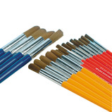 eQuality Golden Nylon Round Brushes Classpack