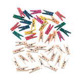 MINI PEGS ASST CLRS + NATURAL PK200