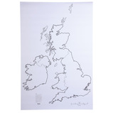 Giant Blank Map of the British Isles