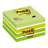 POST-IT NOTE CUBE GREEN 76X76MM