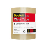 SCOTCH CLEAR TAPE 19MM X 66M PK8