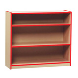 Coloured Edge Open Bookcase with 2 Shelves