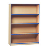 COLOURED EDGE BOOKCASE 3 SHELVES RED