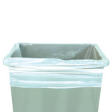 WHITE HD SQUARE BIN LINER PK 100 30L