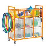 COLOURED SPORTS TROLLEY RED