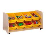 TRUDY 8 SLOPING TRAY UNIT YELLOW