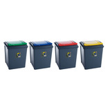50 LTR RECYCLE GREY BIN & YELLOW LID