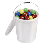 Multi-Coloured Tennis Ball Bucket