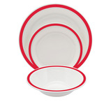 Duo Polycarbonate Rimmed Bowls