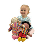 Soft Large Girl and Boy Dolls