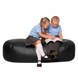 FAUX LEATHER SOFA LOUNGER 650X1500 BLACK