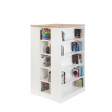 ISLAND BOOKSHELF 1000X1000X1800MM WHITE