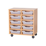 Cubby Tray Storage: 5 Tier with 10 Trays