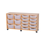 Assorted Cubby Tray Storage: 3 Tier with 16 Trays
