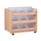 DOUBLE SIDED TILT TOTE STORAGE 18 CT