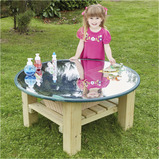 OUTDOOR MIRROR ACTIVITY TABLE WOODEN
