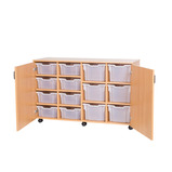 Mobile 8 Deep and 6 Extra Deep Tray Cupboard Unit