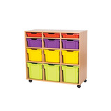Mobile Assorted 12 Tray Storage Unit - Without Trays