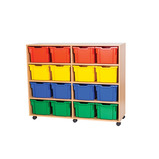 Mobile Storage with 16 Extra Deep Trays
