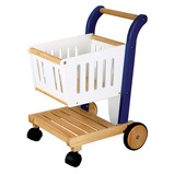 WOODEN SHOPPING TROLLEY