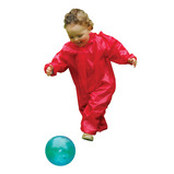 RED OUTDOOR PLAYSUIT 4-5YRS 110CM