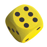SOFT FOAM DICE YELLOW