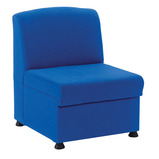 Value Glacier Upholstered Reception Chair and Arms