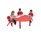 ROUND TABLE RED 560-590MM HEIGHT