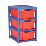 GRATSTACK 6 SHALLOW TRAYS C/BLUE