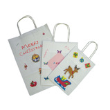WHITE PAPER CARRIER BAGS X 18