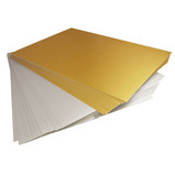 A4 Gold and Silver Card