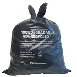BLACK REFUSE SACKS DEGRADABLE BX200