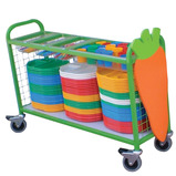 Large Cutlery and Tray Trolley