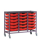 TRIPLE COLUMN TROLLEY WITH RUNNERS