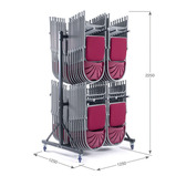 2 Column High Hanging Storage Trolley