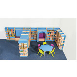 LIBRARY BOOKCASE H750MM BLUE