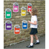 Paint Pots Outdoor Learning Boards