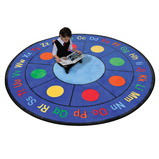 ABC DOTS ROUND LEARNING RUG 1980MM
