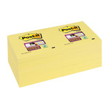 POST-IT S/STICKY YELL 76X76MM PK12