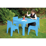 JOLLY KIDZ RESIN TABLE RED