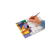 PVC GLASS PAINTING SHEETS PK 10