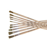 Golden Nylon Long Flat Brushes