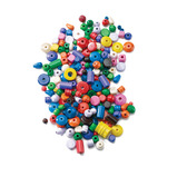 BEADS WOODEN 200GM ASSORTED PACK