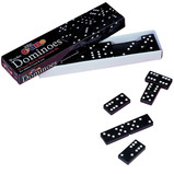 DOMINOES BLACK COLOURED SPOTS SET