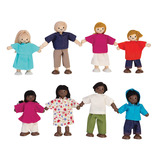WOODEN DOLL SET OF 4 WHITE