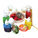 Painting/Marbling Eggs and Sticks