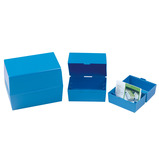 "RECORD CARD BOX 8X5"" BLUE"