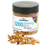 CONSORTIUM DRAWING PINS TUB OF 1200